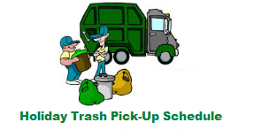 Thanksgiving Solid Waste pickup