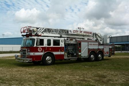 L-14, ladder 14, aerial fire truck