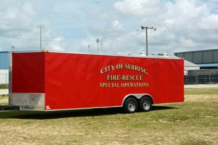 fire department special operations enclosed trailer