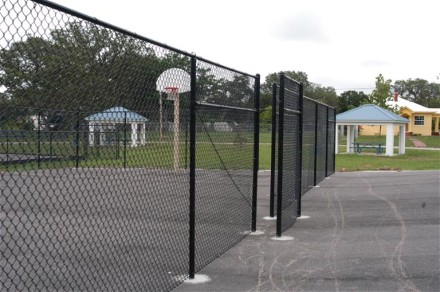 Basketball Court and Tables